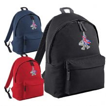 F-35 Fighter Union Jack Flag Flying Embroidered Aircraft UK Backpack